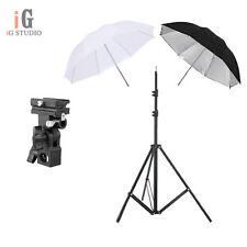 "Photography kit 33"" Black/Silver + translucent Umbrella +light stand+bracket B"