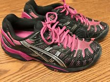 Asics E150N Women's Gel Resolution 3 Black Purple Athletic Running Shoes Sz 8