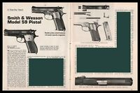 1973 SMITH & WESSON Model Pistol 3-page Evaluation Article by MD Wsite