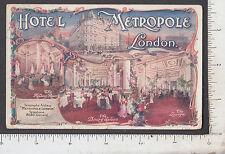 9592 Hotel Metropole London 1914 postcard Patrick Hicley Wells College Aurora NY