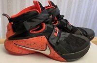 Nike Zoom LeBron Soldier 9 IX PRM 'Black Bright Crimson' 749490-016 Size 8.5