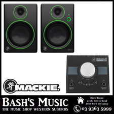 Mackie CR5BT Studio Monitors with Bluetooth + Big Knob Passive Monitor Controlle
