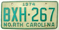 North Carolina 1974 License Plate Garage Old Car Auto Tag Vintage 1970s Man Cave