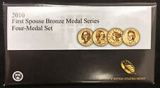 2010 First Spouse Bronze Medal Set -- Four Medals in Original Mint Packaging