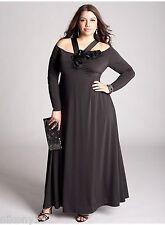 NWT Authentic Rare Plus Size Designer IGIGI Opium Gown in Black, 12