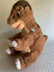 """Vintage Gund 1988 The Land Before Time Little Foot Stuffed Plush 18"""" w/Gold Tag"""