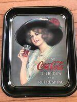 Vintage 1972 Coca Cola Hamilton King Girl Advertising Metal Serving Tray