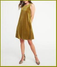 NEW OLD NAVY GOLDEN TICKET VELVET SWING DRESS M