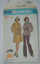 sewing pattern coat or jacket size 12