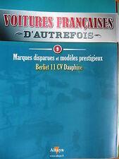 FASCICULE  9 VOITURES FRANCAISES AUTREFOIS BERLIET 11 CV DAUPHINE 1939