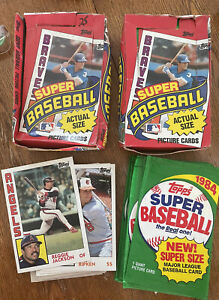 Lot Of 1984 TOPPS SUPER BASEBALL Packs (38), Wrappers (27), And Cards (36)