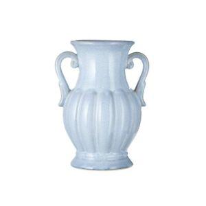Raz Imports Graceful Living Reactive Glaze Fluted Handled Vase