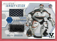 2015-16 Martin Brodeur ITG Final Vault 02-03 Between the Pipes Jersey Stick 1/1