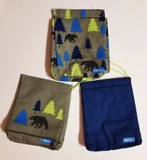 iPack Lunch Sacks Set Of 3  INSULATED Eco-Friendly Wash & Reuse Loop/Lock Close