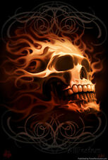 Fire Skull Poster Print by Tom Wood, 13x19