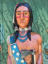 John Gallagher Carved Wooden Cigar Store Indian 6 ft.Tall Custom Orders