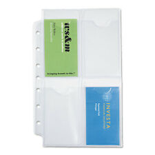Day-Timer Business Card Holders for Looseleaf Planners 5 1/2 x 8 1/2 5/Pack