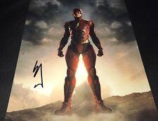 Ezra Miller Justice League The Flash Signed 11x14 Autographed Photo COA Proof