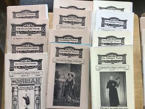 COLLECTORS FORUM - FRED EVANS MAGIC PERIODICAL - ALL 20 ISSUES