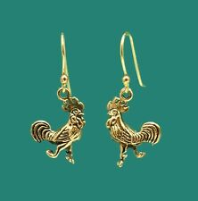 Fun Rooster Earrings For Chicken Collector - Gift For Roosters Fan Fowl Farmer