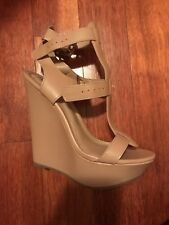 Wedges  size 7 tan