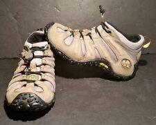 Merrell Chameleon Stretch Kangaroo Boa Hiking Shoes Size 6 Gray Tan Vibram Soles