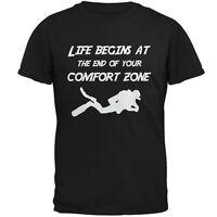 Comfort Zone Scuba Diving Black Adult T-Shirt