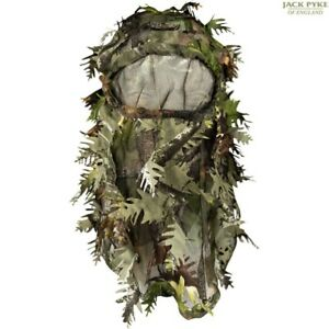 JACK PYKE LLCS 3D BALACLAVA GHILLIE CONCEALMENT FACE COVER ENGLISH CAMO HUNTING