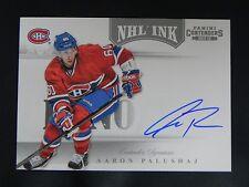 2011-12 Panini Contenders NHL Ink ROOKIE #30 Aaron Palushaj Montreal Canadiens