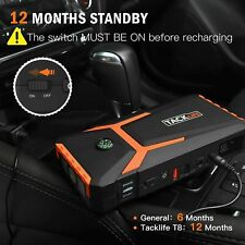 Tacklife T8 Car Jump Starter 800A 18000mAh Cars Motors Battery Chargers Supplies