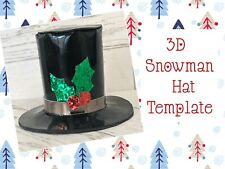 "3.5"" Snowman Top Hat Plastic Templates  🎀"