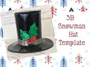 "3.5"" Snowman Top Hat Plastic Templates  🎀"