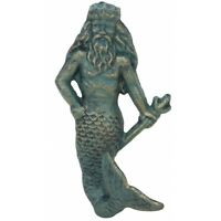 Towel Hat Bath nautical Verdigris Neptune WALL HOOK Beach Ocean Shore Merman