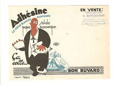 BUVARD 1950's - ADHESINE, colle blanche parfumée - cachet LOURES BAROUSSE 65370