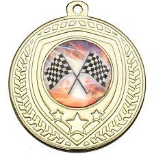 50mm Shield Multisport Medals Team - FREE ribbon, engraving & ukpp G440/1/2 GSB