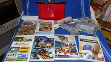 Nintendo Wii  Red Console Bundle 6 Games Tested works.