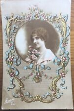 Antique French Greetings Postcard