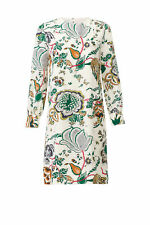 Tory Burch Women's Dress White Ivory Size 8 Shift Floral Print Silk $498- #282