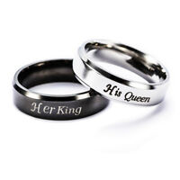 King And Queen Couple Rings Stainless Steel Crown Rings Love Promise Rings Gift