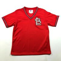 Vintage 90s NWT St Louis Cardinals Red V Neck Logo Mesh Jersey Youth L (14-16)