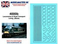 Lettering /& Numbering OO Transfers Modelmaster 9805 London Transport Lining