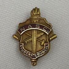 VINTAGE FRATERNAL ORG. NATIONAL ASSOCIATION STUDENT COUNCIL-NASC PIN-GOLD FILLED