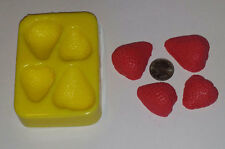 Strawberry Halves Soap & Candle Mold -4 cavities