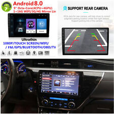 New listing 2Din 9inch Android 8.0 Car Dash Stereo Radio Player Gps Wifi 3G/4G Bt Dab Dvr