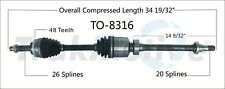 CV Axle Shaft Rear Right SurTrack TO-8316 fits 00-02 Toyota MR2 Spyder