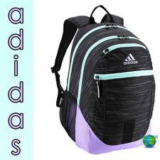 Adidas Foundation III Backpack Laptop School Book Bag Black/Light Purple Aqua