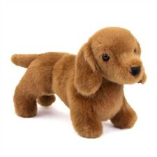 "Dilly 9"" Dachshund stuffed animal plush dog by Douglas Cuddle brown toy"
