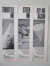 6/1970 PUB TELEDYNE RYAN AERONAUTICAL FIREBEE TARGET PARACHUTE ORIGINAL AD