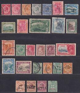 Jamaica 1912-1935 King George V Collection 28 Stamps SCV $27.40