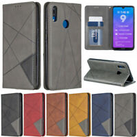 Luxury Line Wallet Leather Flip Case Cover For Huawei Y7 2019 P30 Lite Honor 9X